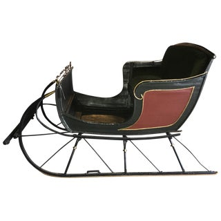 Antique Portland Cutter Christmas Sleigh