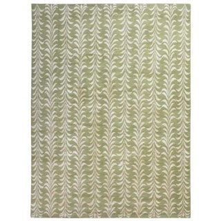 The Rug Company Hand-Knotted Wool Silk Rug - 9'x6'