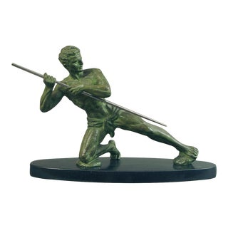 A Young Man and his Spear... Manly Art Deco Sculpture