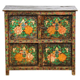 Antique Floral Monastery Cabinet