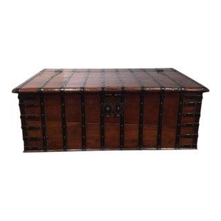 19th Century English Chestnut Coffee Table Trunk