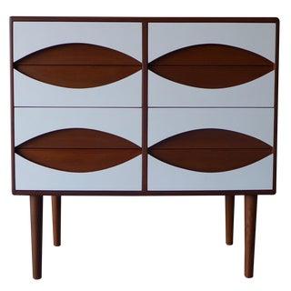 Mid-Century Modern Style White & Teak Dresser