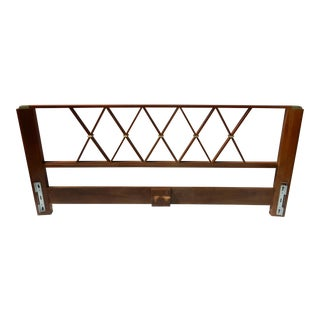 Paul Frankl Walnut & Brass King Size Headboard