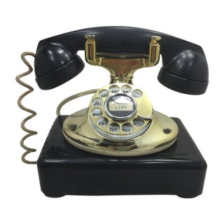 Western Electric Imperial 202 Gold & Black Phone