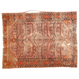 "Antique Distressed Lilihan Square Rug - 4'10"" X 6'4"""