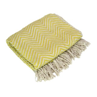 Canary Yellow Chevron Throw