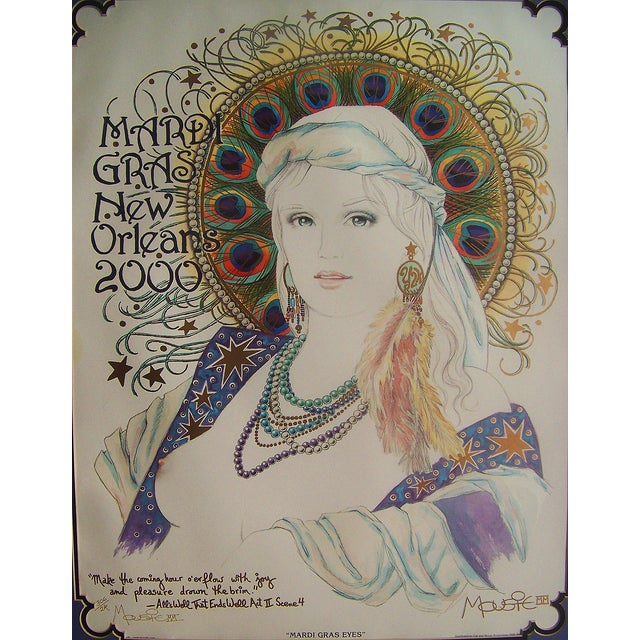 Mousie 'Mardi Gras Eyes' Poster - Image 3 of 6