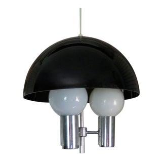 Black Lucite 3 Light Sputnik Style Chandelier