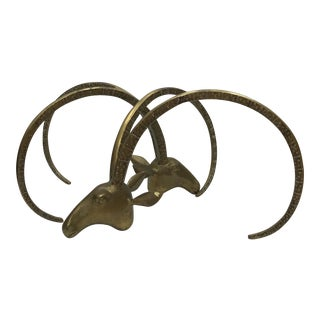 Brass Ibex Head Coffee Table Base - A Pair