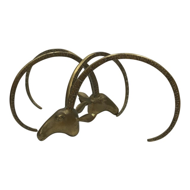Brass Ibex Head Coffee Table Base - A Pair - Image 1 of 9