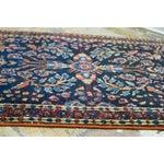"""Image of Blue Persian Sarouk Rug Mat - 1'11"""" X 2'8"""""""