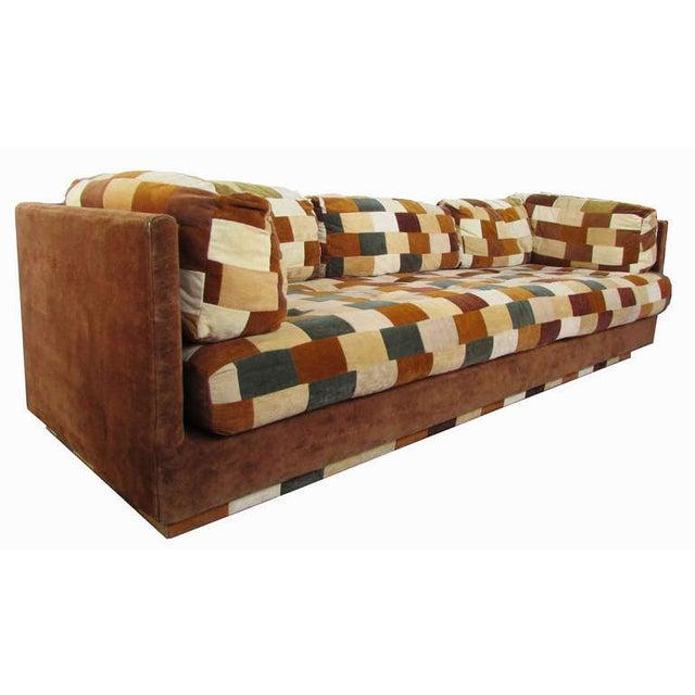 Image of Milo Baughman Sofa with Patchwork