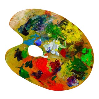 French Painted Artist's Palette