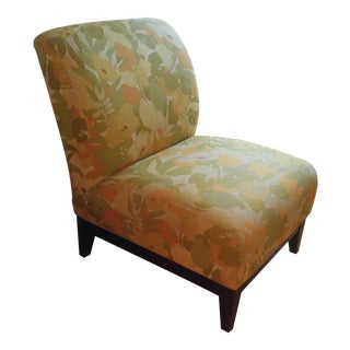 Mgbw '70's Floral Slipper Chair