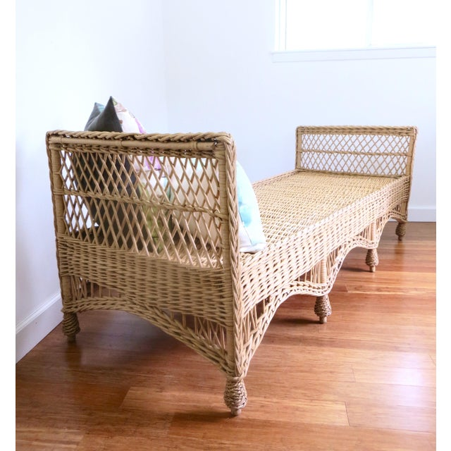 Vintage Wicker Rattan Daybed by Bar Harbor - Image 3 of 8