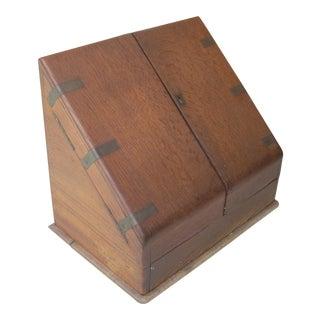 Antique Oak Letter File
