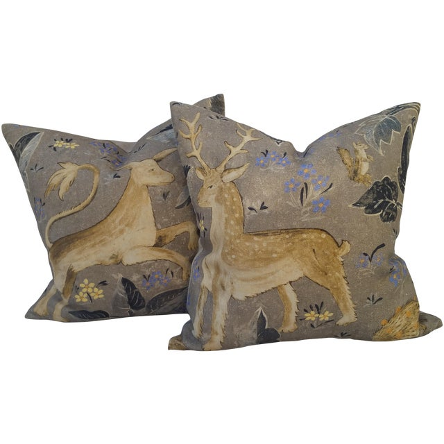 Zoffany Mythical Animal Pillows - A Pair - Image 1 of 7