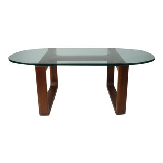 Fred Camp Modern Glass Top Coffee Table
