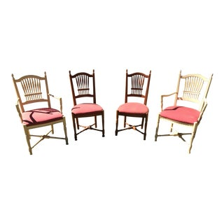 Ethan Allen Legacy Wheatback Chairs-Set of Four