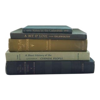 Vintage Green Book Collection - Set of 5