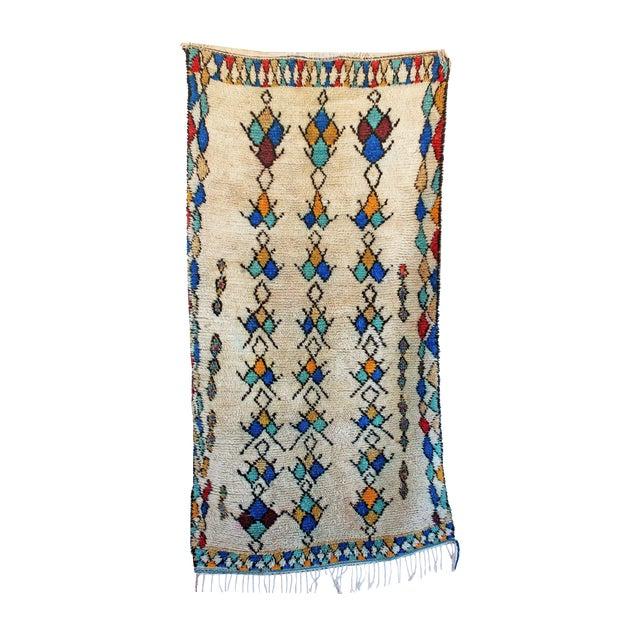 "Vintage Azilal Moroccan Rug - 3'8"" x 6'11"" - Image 1 of 2"