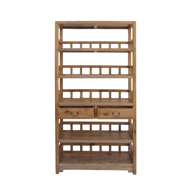 Chinese Camphor Wood Simple Display Curio Bookcase - Image 4 of 5