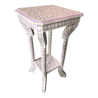 Lilac Bone Inlay Side Table