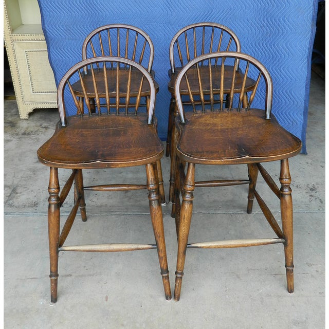 Windsor Style Counter Stools - Set of 4 - Image 2 of 7