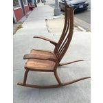 Image of Handmade Walnut Rocking Chair