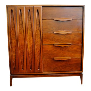 Mid-Century Modern Walnut Highboy