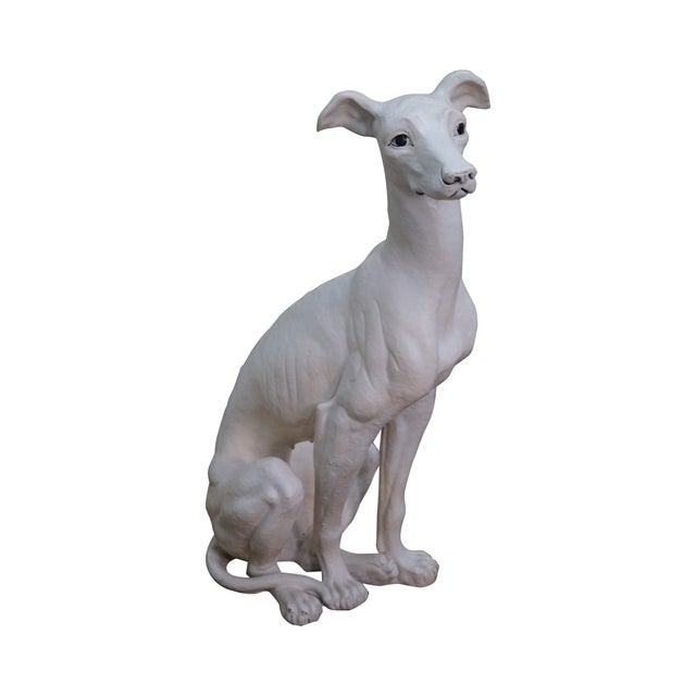 Mid Century Italian Ceramic Greyhound Dog Statue - Image 1 of 10