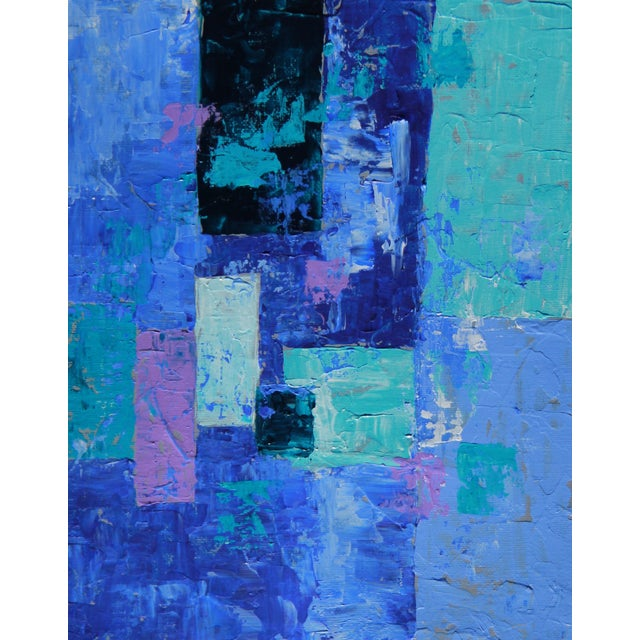 """""""Box Arrangement #7"""" Abstract Painting- C. Plowden - Image 2 of 2"""