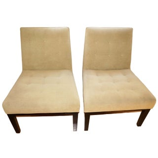 Room & Board Tufted Side Chairs - A Pair