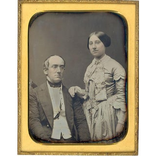 1/2 Plate Daguerreotype Husband & Wife Portrait