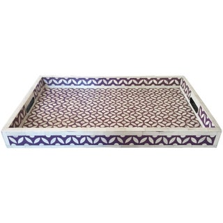 Violet Patterned Bone Inlay Tray