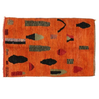 """Moroccan Rug With Art Deco Style - 4'10"""" X 7'4"""""""