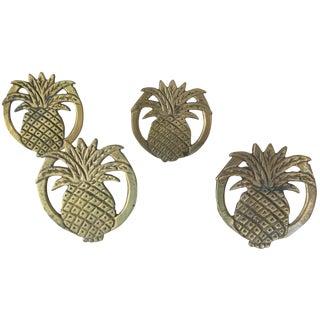 Brass Pineapple Napkin Rings - Set of 4