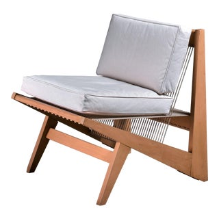 Rope Sling Lounge Chair in the Manner of Albert Frey, USA, 1950s