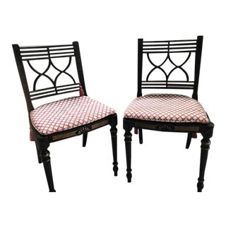 Baker Regency Style Side Chairs - A Pair