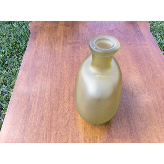 Gold Vintage Glass Vase - Image 4 of 5