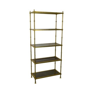 vintage used gold bookcases and tag res chairish. Black Bedroom Furniture Sets. Home Design Ideas