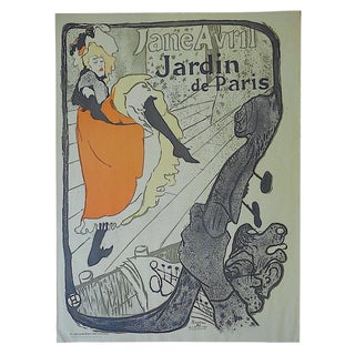 Vintage Toulouse Lautrec Lithograph -Jane Avril
