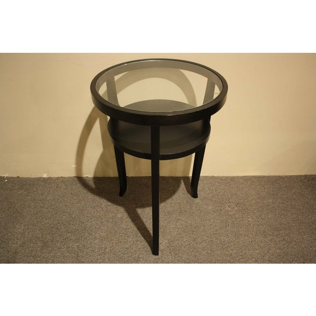 Ebony Wood & Glass Accent Table - Image 3 of 5
