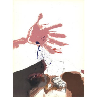 "Paul Rebeyrolle ""Hand Out"" 1967 Lithograph"
