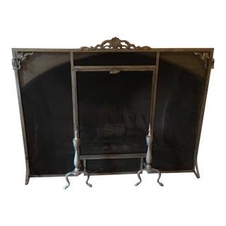 Vintage Fireplace Screen