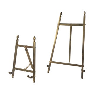 Brass Easels - A Pair
