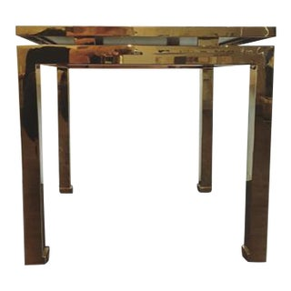 Mitchell Gold Bob Williams Brass & Black Glass Side Table