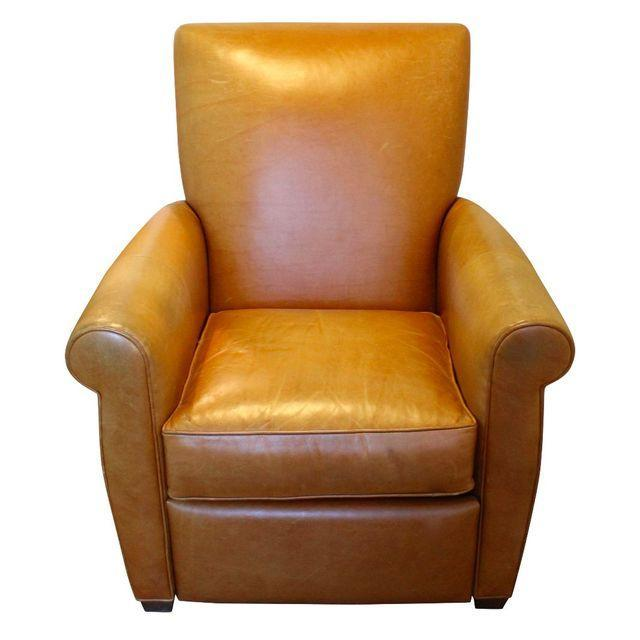 ABC Home Camel Leather Club Chair