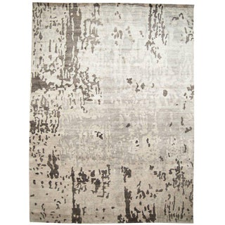 Contemporary Gray Rug - 10′ × 13′7″