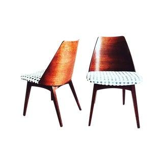 Mid Century Walnut Foster McDavid Chairs - Pair